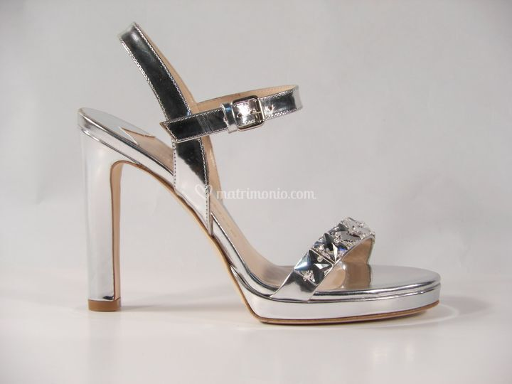 Sandalo argento con pietre