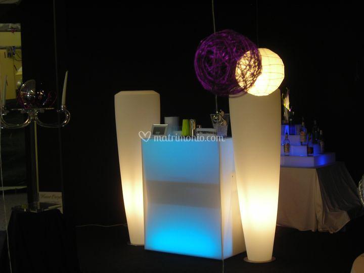 Strutture in design luminose cambiacolore