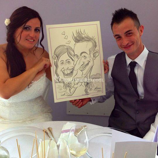 Caricature per il matrimonio