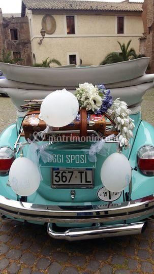 Maggiolino sposi for Targa oggi sposi