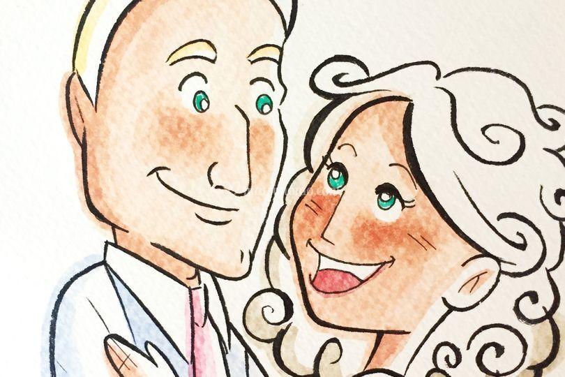 Sposi - illustrazione