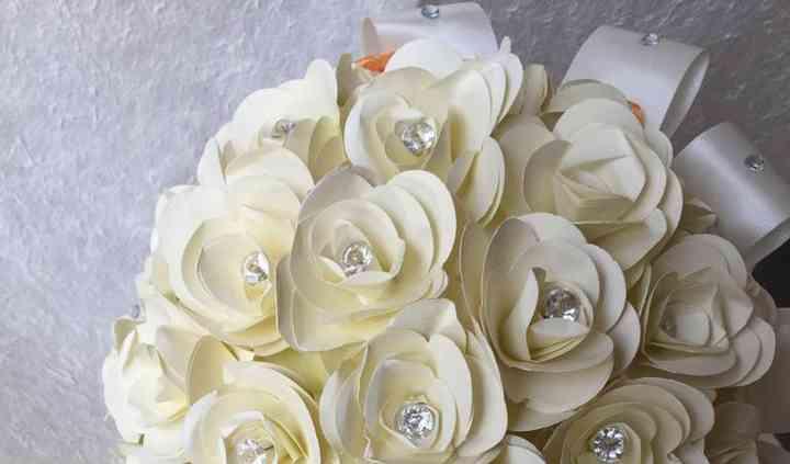 Bouquet di carta con puntiluce
