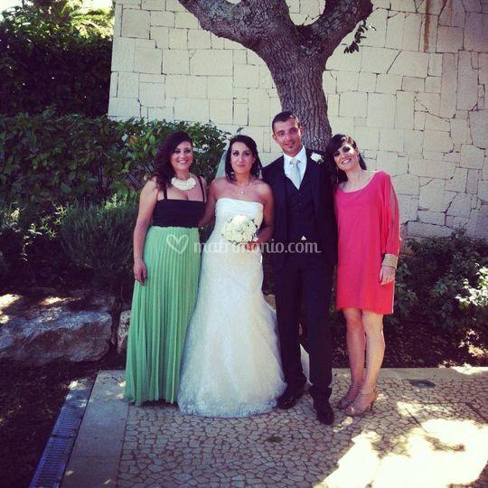 Gli sposi e i testimoni
