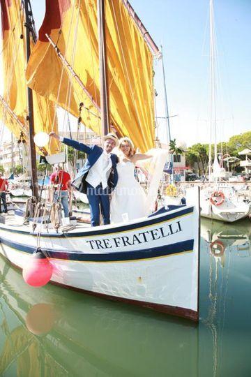 Matrimonio su barca storica