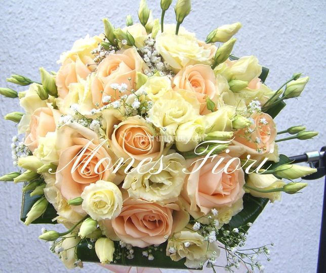 Bouquet Rose rosa e Lisianthus