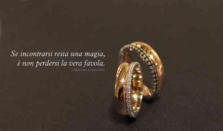 Fedi in oro e diamanti