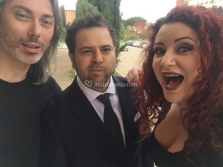 Selfie con sposo