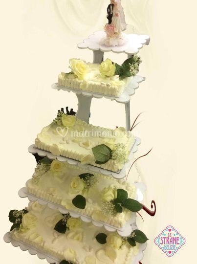 Torta Nuziale a scala