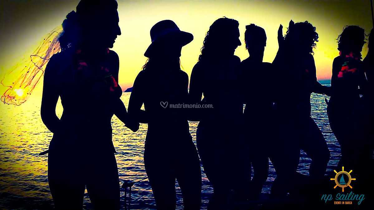 Festa in barca a Messina