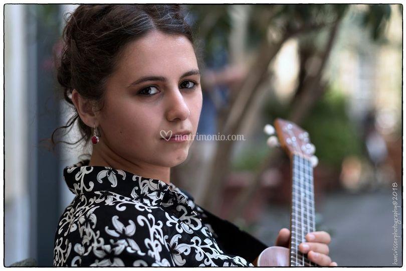 Francesca Colli, voce-ukulele