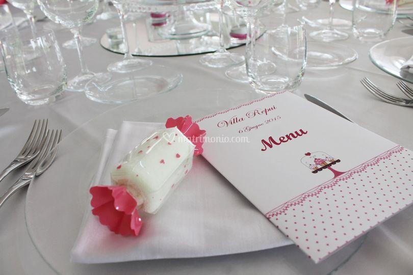 Segnaposto Matrimonio Tema Dolci.Vanilla Wedding