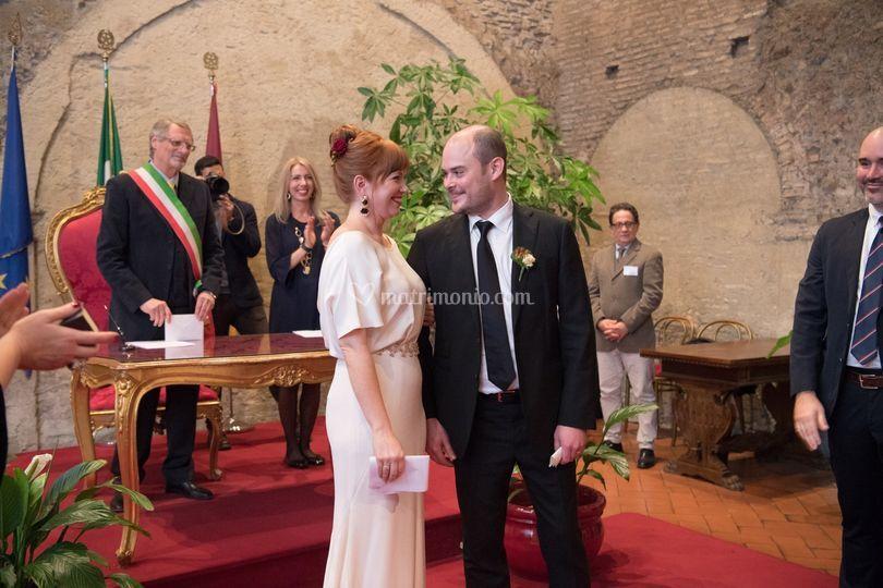 Civil ceremony in rome