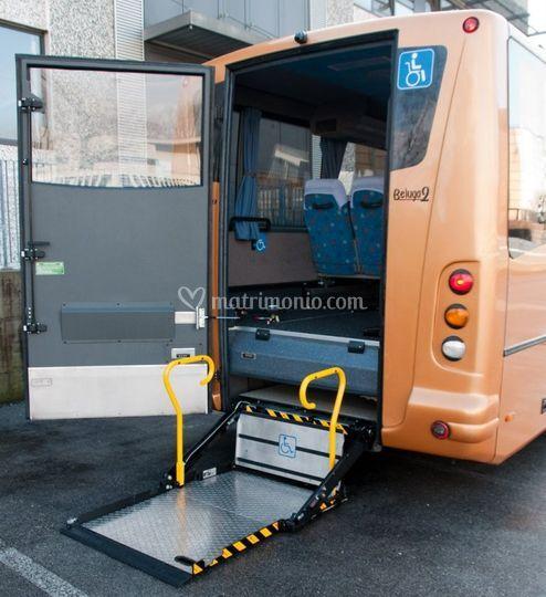 Minibus pedana disabili