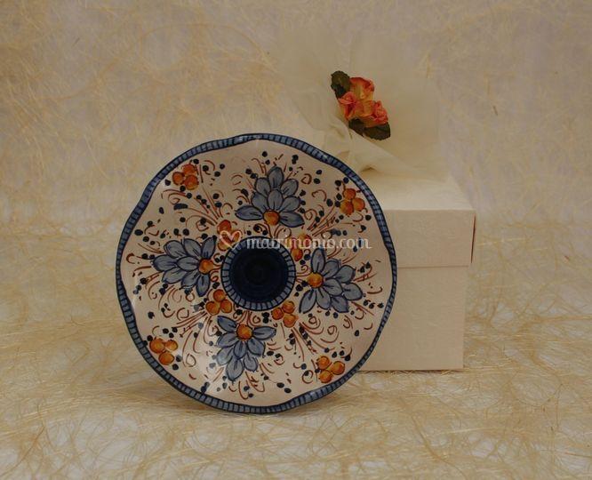 Piattino in ceramica blu