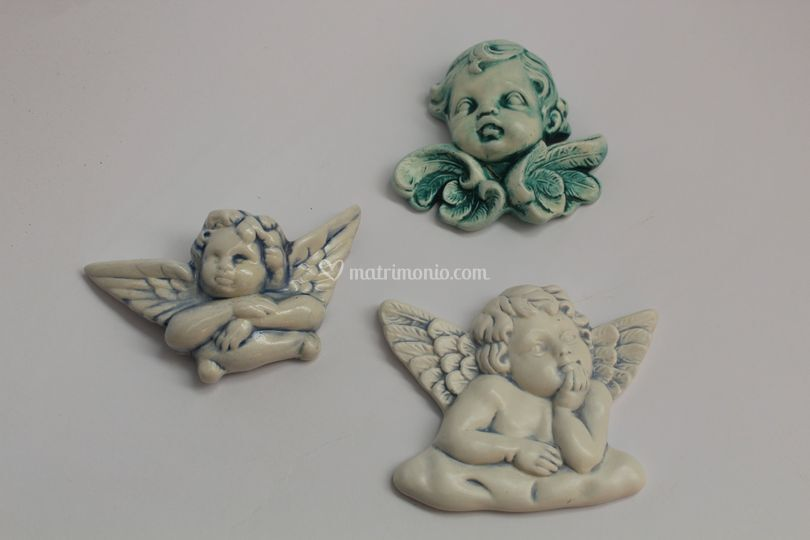 Bomboniera in ceramica_angeli
