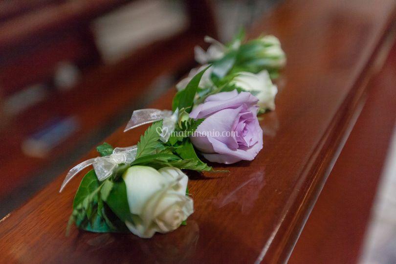 Bottoniera sposo e testimoni