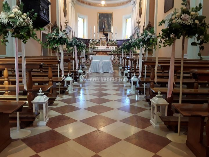 Allestimento navata centrale