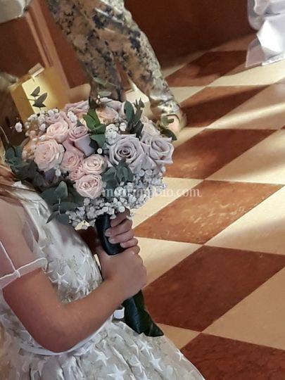 Bouquet sposa tonalità cipria
