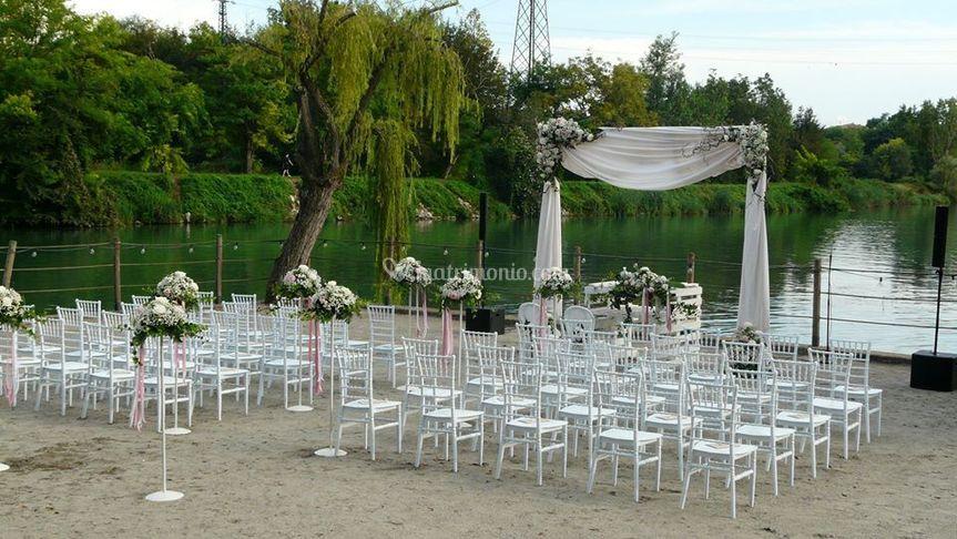 Zona cerimonia allestita