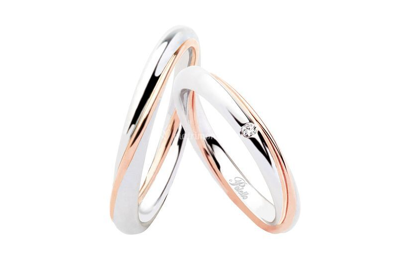 Oro bianco rosa diamanti