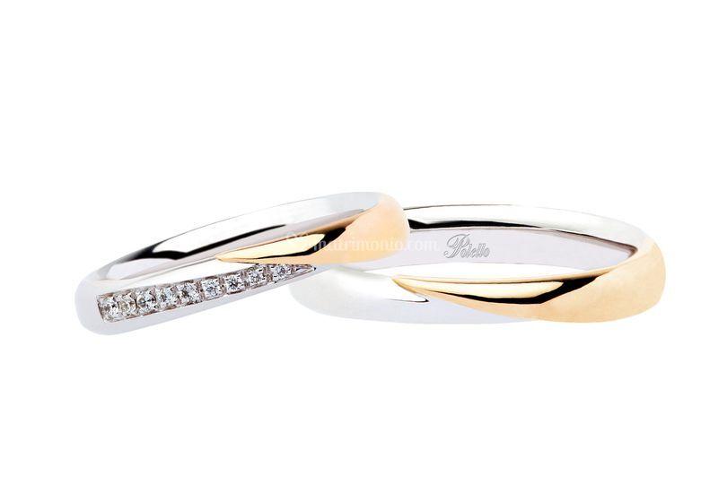 Oro bianco giallo diamanti