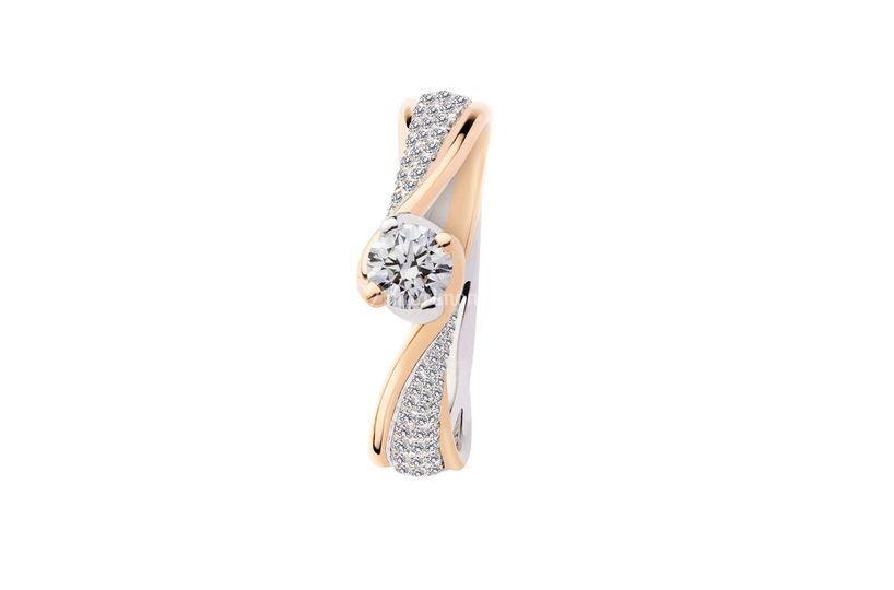Oro bianco rosa diamanti 2016