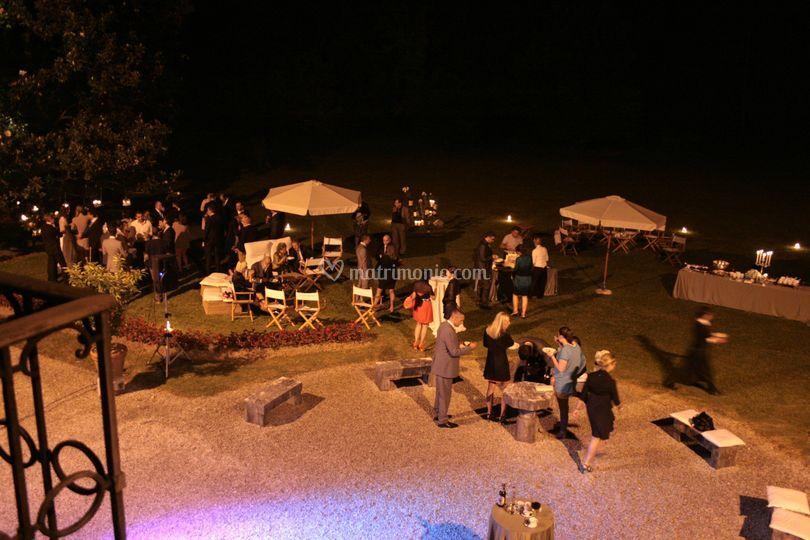 Buffet serale nel Parco