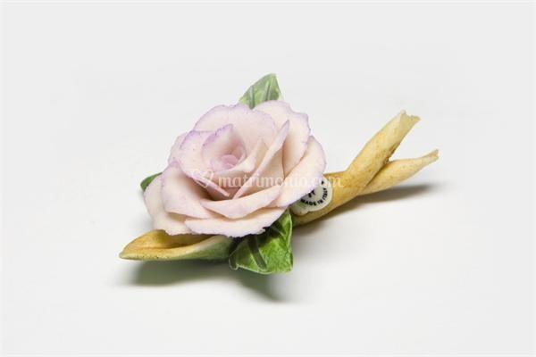 Porcellane Capodimonte - Rosa con ramo