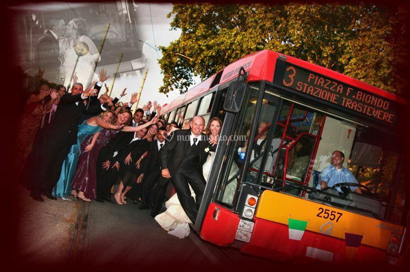 L'autobus in servizio