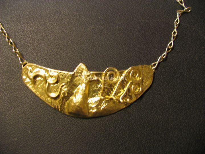 """Collana oro """"Pavone"""". Pezzo Unico"""