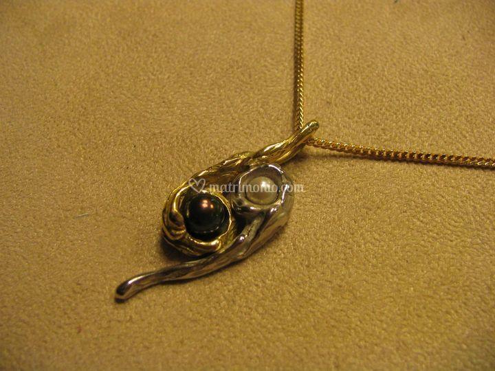 """Oro B.G. perle """"Yng Yang"""""""