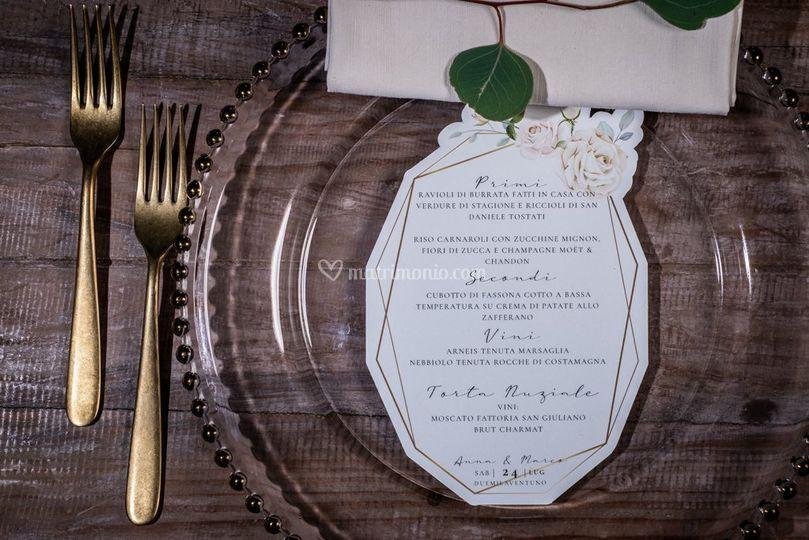 Menù ricevimento nozze