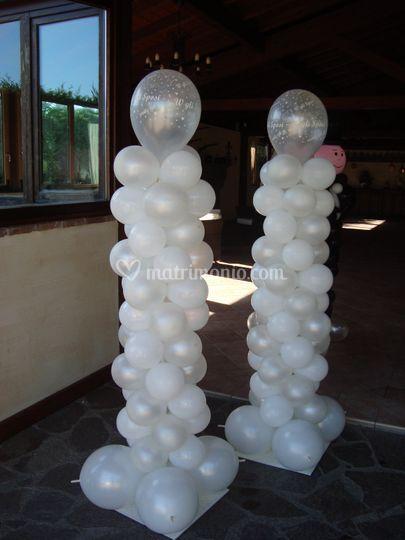 Colonne di palloncini