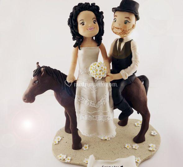 Cake topper cavallo