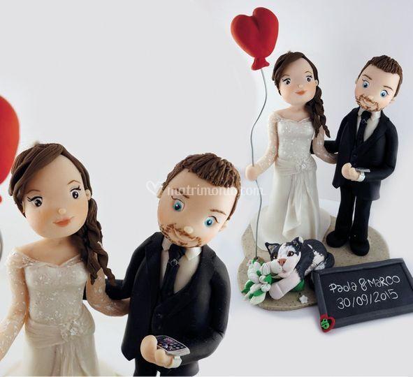 Cake topper matrimonio di ele-ganza HandMade
