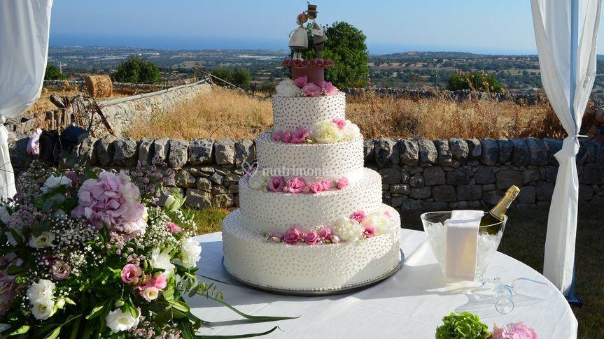 Particolare torta nuziale