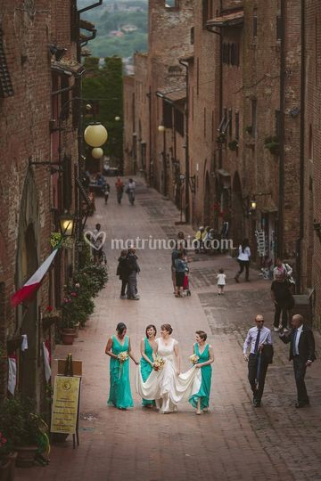 Matrimonio in Val d'orcia