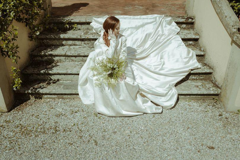 La sposa in giardino