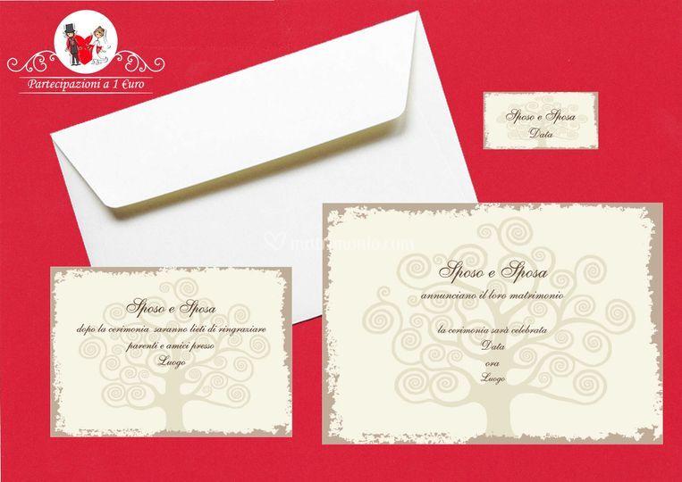Inviti nozze personalizzati