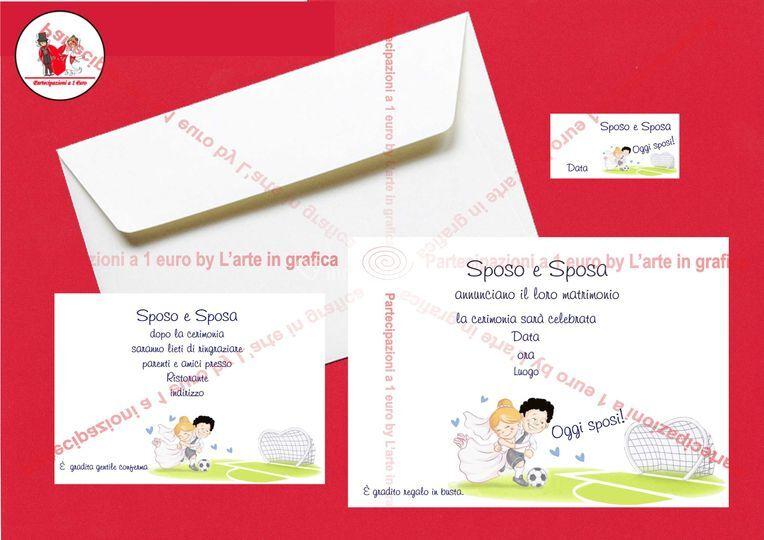 Partecipazioni Matrimonio 1 Euro.Partecipazioni A 1 Euro