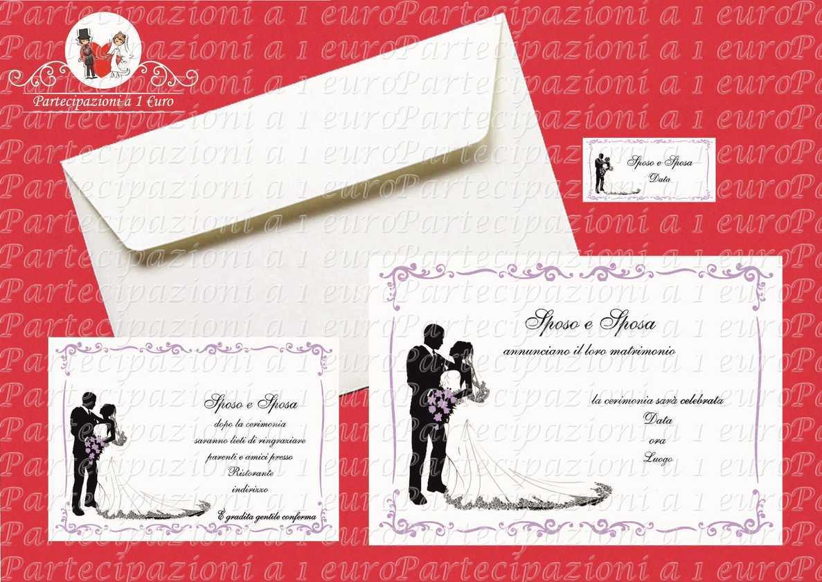 Partecipazioni Matrimonio 1 Euro.Sposi Con Cornice Glicine Di Partecipazioni A 1 Euro Foto 50