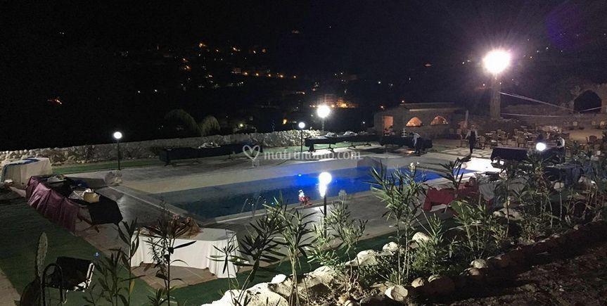 L'anfiteatro e la piscina
