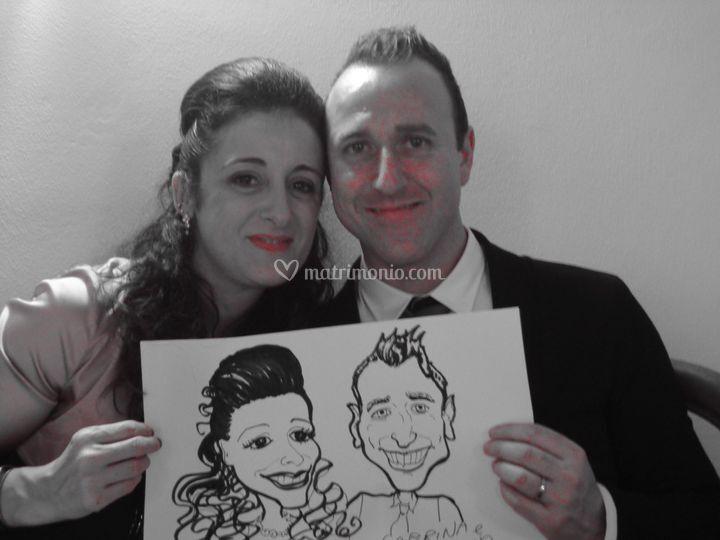Caricature dal vivo alle nozze