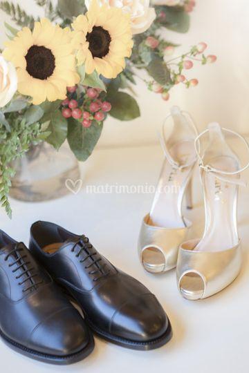 Scarpe da sposo e da sposa