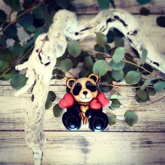 Panda con cuori 2017