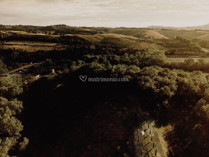 Drone tuscany