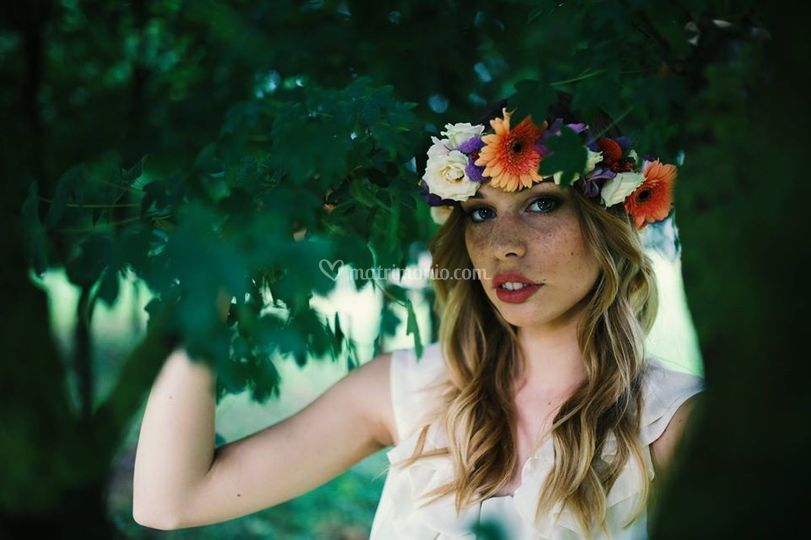 Trucco sposa floreale