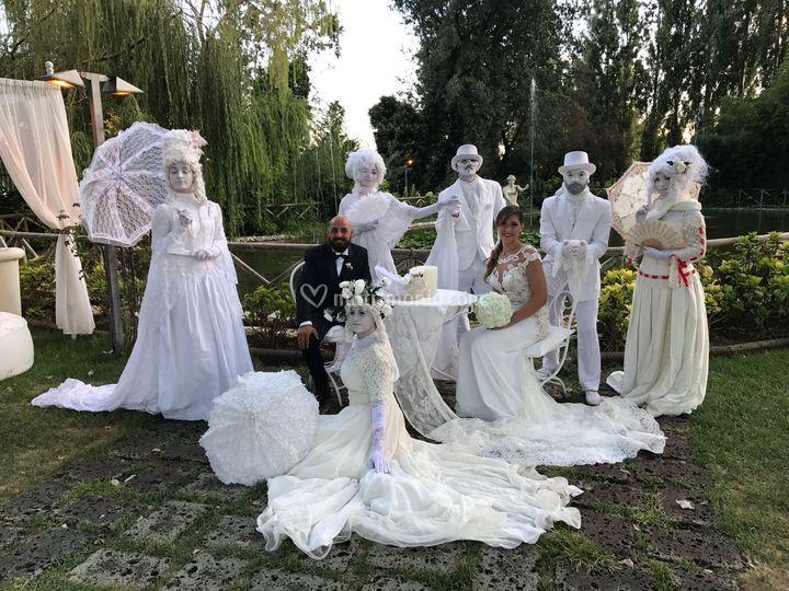 Statue Viventi per sposi