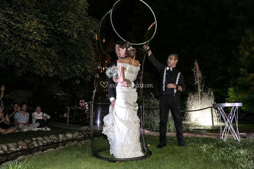 Show Bolle di Sapone per Sposi