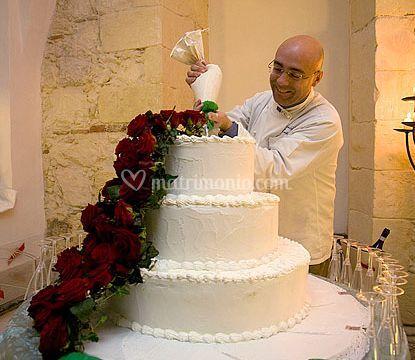 Torta della sposa e dello sposo